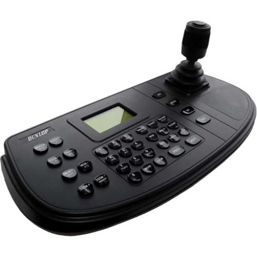Network Keyboard 128X64 pixel display 4-axis 4-dimensional control lever with PTZ camera and DVR / NVR control